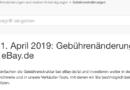 Zmiana opłat i prowizji na eBayu od 1.04.2019